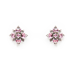 SV Couture Pink Crystal Starburst Earrings