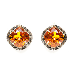 SV Couture Topaz Cocktail Earrings