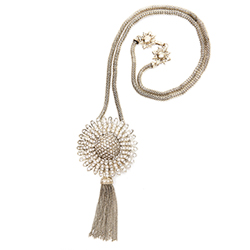 SV Couture Sunburst Tassel Necklace