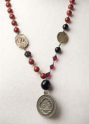 Latin American Necklace with 1901 French Medal